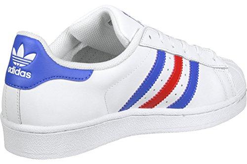 adidas Superstar J, Zapatillas de Deporte Unisex Niños blanco azul