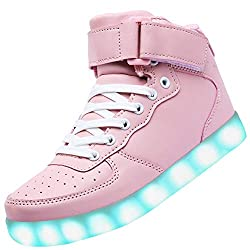 Pink High Top Light Up Sneakers