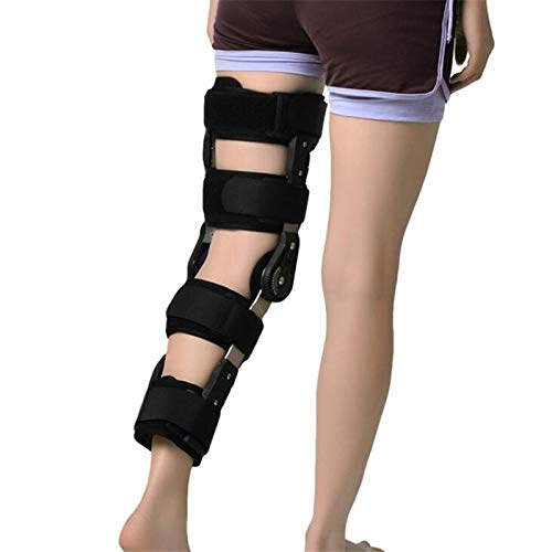 HWZ Adjustable Knee Joint Support Brace Meniscus Ligament postoperative Protective Gear Knee Fracture Knee Protector (Black Common)