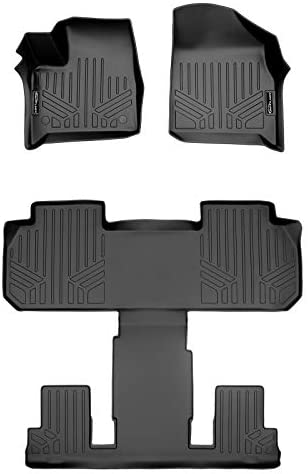 SMARTLINER SA0343/B0345 for 2018-2021 Chevrolet Traverse with 2nd Row Bucket Seats, Black