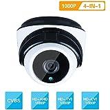 SECRT Full HD 1080P Dome Security Camera, 2.0 Megapixel Hybrid 4-in-1 TVI/CVI/AHD/CVBS 960H Waterproof Indoor/Outdoor 36 LEDs 82ft Night Vision IR-CUT 3.6mm Lens Metal Housing