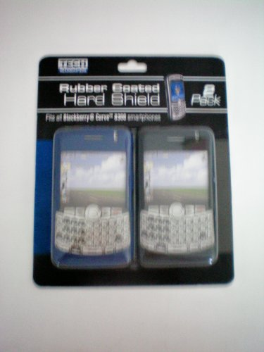Rubber Coated Hard Shield -- Fits all Blackberry Curve 8300, 8310, 8320, 8330, 8350i Smartphones -- 2 Pack Blue and Black - 8330 Rubber