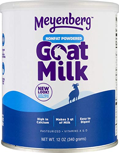 Meyenberg Nonfat Powdered Goat Milk, 12 oz, Vitamins A & D, Gluten Free, Soy Free ()