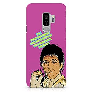 Loud Universe Tony Montana Samsung S9 Plus Case Quote Scarface Retro MovieSamsung S9 Plus Cover with 3d Wrap around Edges