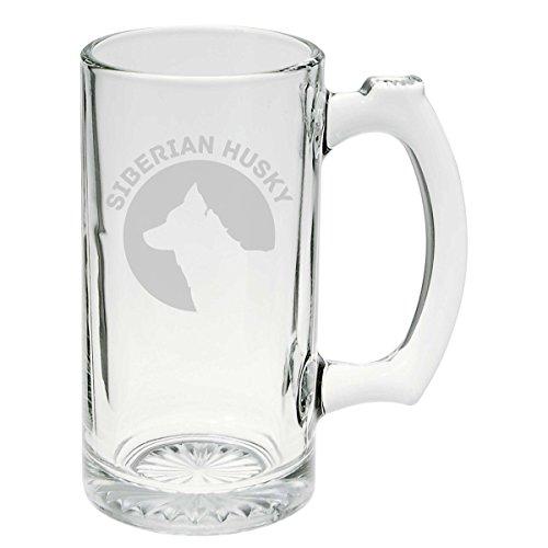 (Siberian Husky Dog Breed Pride Glass Stein Mug 25 oz)
