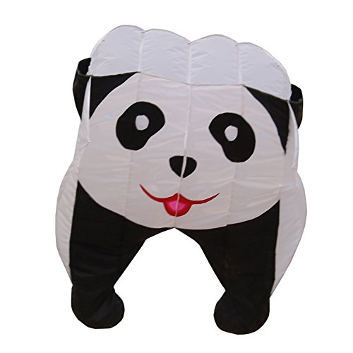 Fullfar Parafoil 3D Panda Kite for Kid. Soft Nylon Material, Good Begineer Kid Kite Easy to Fly. 244×39 inch Long Adult Kite for The Beach or Park, Outdoor Game and Activites.