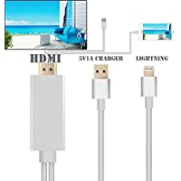 HUI 6.4Ft MHL To HDMI Cable Adapter 1080P HDTV Adaptor For IPhone 5 5S 6 6S Plus (silver)