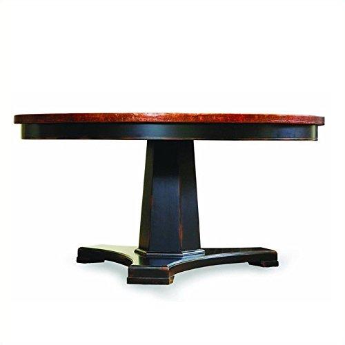 Hooker Furniture Sanctuary Round Pedestal Accent Table in Du