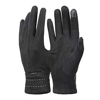 Womens Winter Gloves, Warm Soft Fleece Lined Suede Gloves