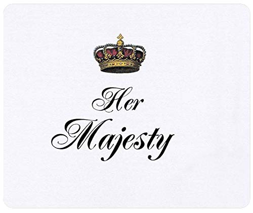 Her Majesty Part of A His and Hers Mr. and Mrs. Non Slip Rubber Mousepad Gaming Mouse Mat Mouse Pad