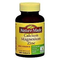Nm Calcium Magnesium Zinc Size 100ct Nm Calcium Magnesium Zinc Tab 100ct