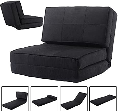 Ku0026A Company Lounger Convertible Sleeper Bed Couch Dorm Fold Flip Chair Down  Guest Out Sofa Game
