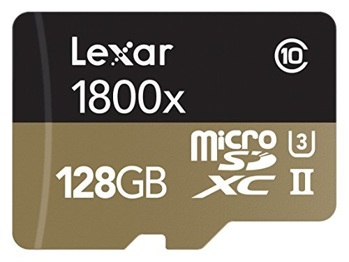 Lexar professional 1800x 64gb microsdxc uhs-ii card (lsdmi64gcbna1800a) 1 high-speed performance—leverages uhs-ii technology (u3) for a read transfer speed up to 270mb/s (1800x) premium memory solution for sports camcorders, tablets, and smartphones designed for high-speed capture of high-quality images and extended lengths of 1080p full-hd, 3d, and 4k video