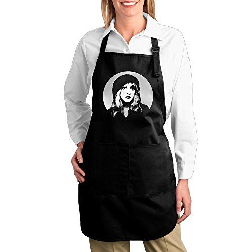 Fleetwood Mac Stevie Nicks Singer Canvas Adjustable Bib Apron With 2 Pockets Black