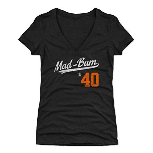 500 LEVEL Madison Bumgarner Women's V-Neck Shirt Medium Tri Black - San Francisco Baseball Women's Apparel - Madison Bumgarner Mad-Bum Players Weekend O WHT - Mad Baseball Jersey