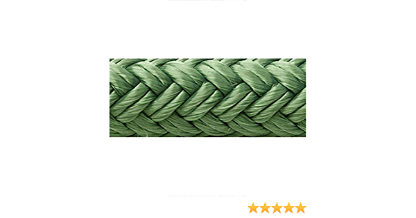 """FENDER LINES 1//4/"""" X 6FT EYE SPLICE FOREST GREEN 4PAC 40851 SEACHOICE 4 ROPES"""