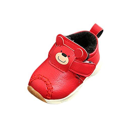Clode® Baby Fashion Sneaker Kind Mädchen Jungen Cartoon Casual Warme Druck rutschfeste Schuhe Rot
