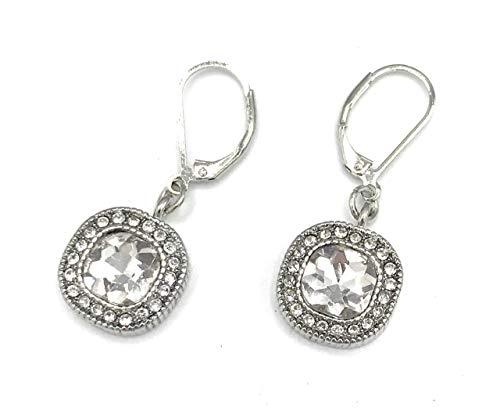 Lia Sophia Crystal Clear Retired Earrings
