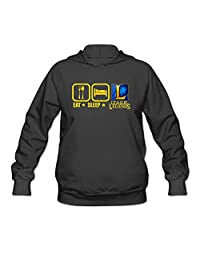 JMHLY Women's Eat Sleep And Play LOL League Of Legends Logo Hoodie Black