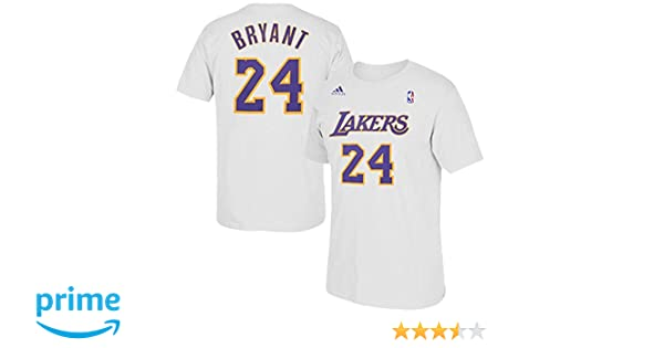 Amazon.com  Kobe Bryant Los Angeles Lakers White Name Number Player Tee  Youth  Clothing 6d2964548