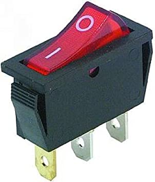 10 x Wippschalter 1-polig rote Wippe 12V//20A Kfz Wippenschalter Schalter rot