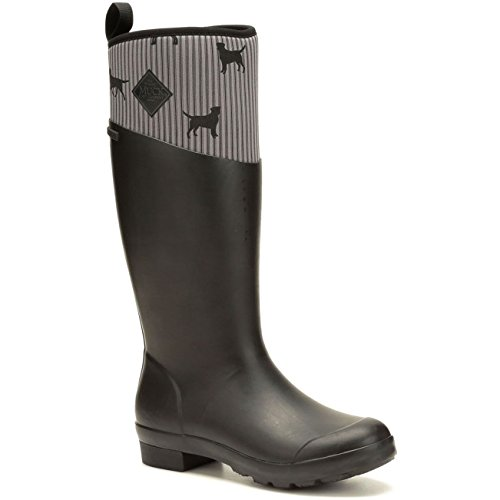 Wellie Black Muck Dog Weather Boots Boot Print Rubber Tremont Cold Women's Tall pqEzq