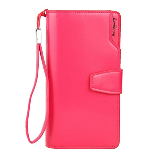 Phone Zipper Leather Purse Holder Large Hand Women for Clutch Pocket Plum Capacity Long Strap Organizer Multi Card with Wallet with 711Pq