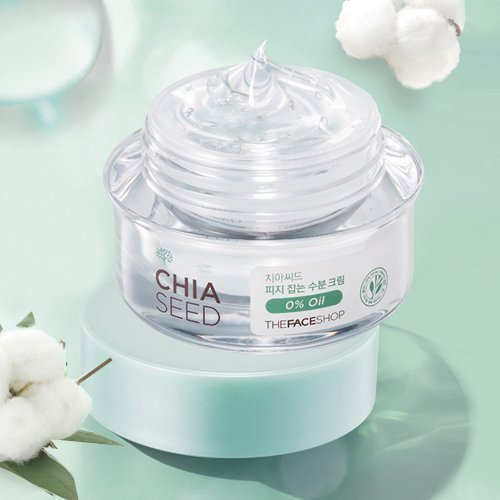 [The Face Shop] Chia Seed Sebum Control Moisture Cream 50ml (Sebum Control Lotion)