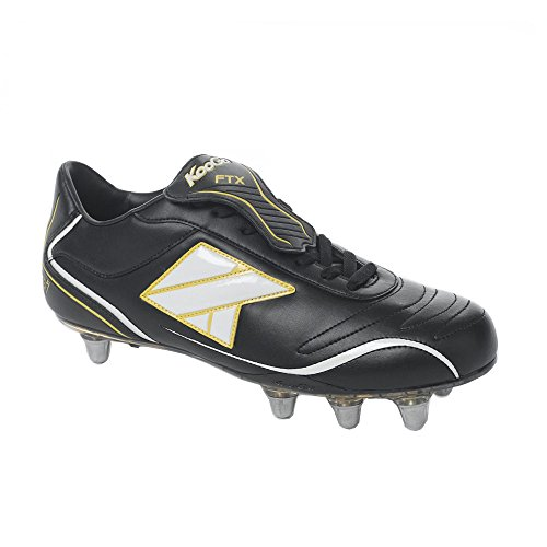 KOOGA FTX Mid Cut orteil pour rugby Boot [Noir/Blanc]
