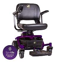 Golden Technologies LiteRider Envy GP162 Scooter Powered-Wheelchair GP162, 20-Inch Seat, Grape