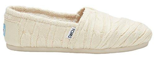 Toms Classics Natural Cable Knit Shearling 10008943 Womens 8.5 28277842314