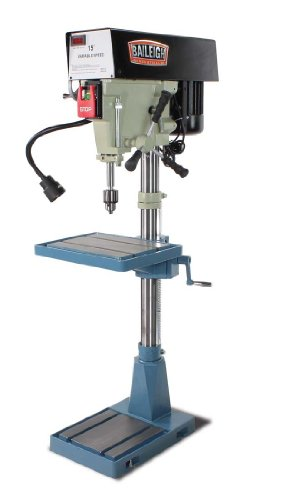 Baileigh DP-15VSF Variable Speed Floor Drill Press, Single Phase (Prewired 110), 220V, 15'' by Baileigh
