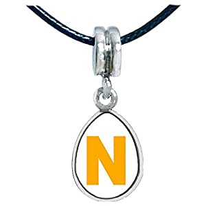 Chicforest Yellow Letter N Photo Angel Tears Charm Beads Fits Pandora Charm Bracelet