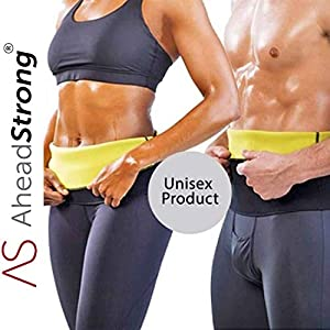 AheadStrong Sweat Slim Belt for Womens Fat Loss| Sweat Slim Hot Shaper Belt| Tummy Trimmer for Men Women| Belly Fat Burner for Men Women| Weight Loss Waist Belt| Size【S M L XL 2XL 3XL】
