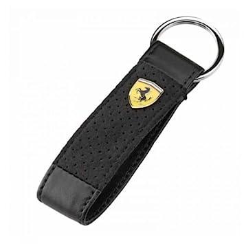 Original Ferrari Alcantara Black Leather Key Chain  Amazon.co.uk  Car    Motorbike a4b3695394