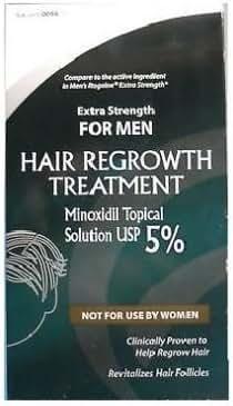 Actavis Minoxidil 5% Extra Strength for Men Hair Regrowth Treatment Sol - 2 Oz Hair Product