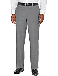 Men's Super 120s Sharkskin Flat Front Pants