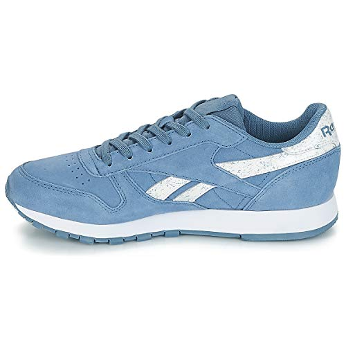Femme blue Cl Slate Gymnastique blue whte Sidestripes Slate Lthr Bleu Chaussures De Reebok sidestripes whte qSARHH