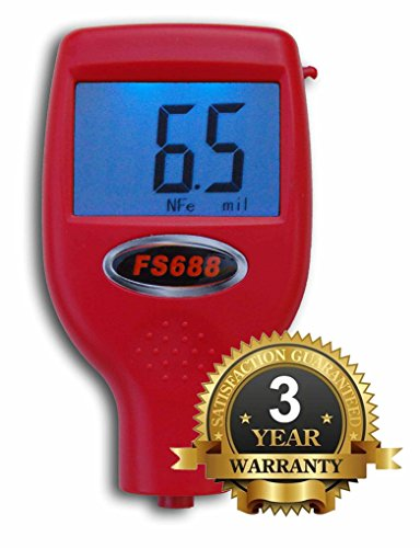 FenderSplendor FS688 Paint Meter / Gauge. 15,000 Meters Sold to Date, Sold and Warrantied in the USA with 3 Year Exchange Warranty. Avoid $3000 Losses When You Miss Paintwork. by FenderSplendor