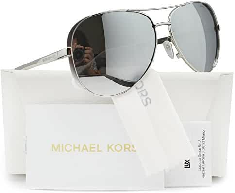 Michael Kors MK5004 Chelsea Polarized Sunglasses Silver w/Silver Mirror (1001/Z3) MK 5004 1001Z3 59mm Authentic