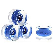 4pcs 60 x 45mm Transparent Skateboard Wheels with ABEC-7 Bearings