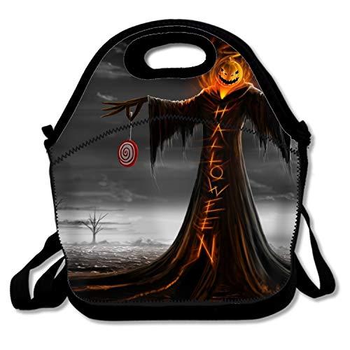 Ltgyth Portable Takeaway Cooler Bag Holiday Halloween 31 October Pumpkin Host Lunch Box -