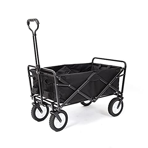 Mac Sports Collapsible Folding Outdoor Utility Wagon, Black - Sale: $87.79 USD (12% off)