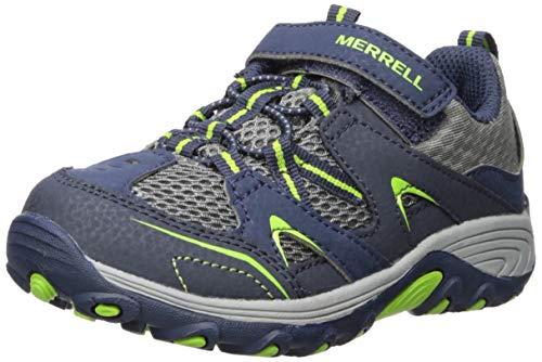 Merrell Boys' Trail Chaser JR Sneaker, Navy/Green, 10 M US - Merrell Green
