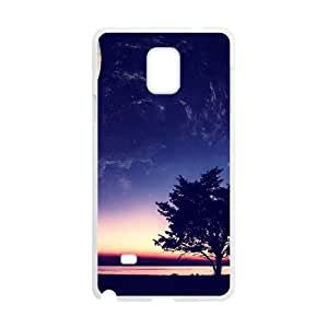 Bright Moon Sky And Tree White Phone Case for Samsung Galaxy Note4