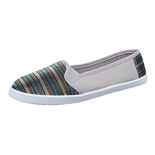 Ital-Design WoMen Slippers Grey