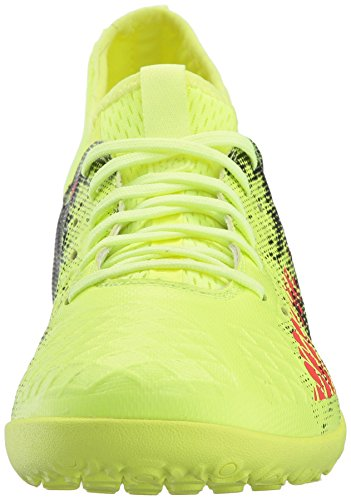 Pictures of PUMA Men's Future 18.3 TT Soccer Shoe Black/ Yellow/ Asphait 6