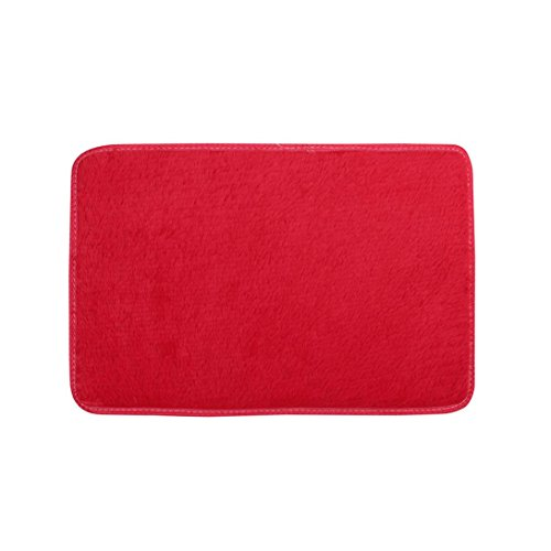 Shaggy Anti-skid Carpets Rugs Floor Mat/Cover 80*120cm (Red) - 3
