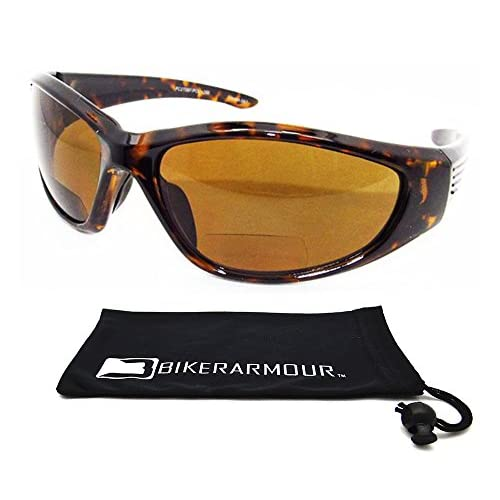 812d2daa18b durable service Motorcycle Polarized Bifocal Sunglasses 1.50 for Men and  Women with Tortoise Shell Brown Frames