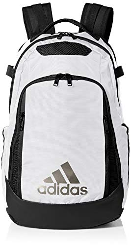 adidas 5-Star Team Backpack, White/Black, One Size